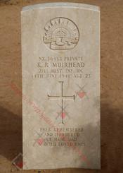 2/13 Infantry Battalion NX36452  Pvt Keith Robert MUIRHEAD