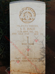 LIBYA Benghazi War Cemetery 2/23rd Infantry Battalion VX28634 Pvt Stanley Frederick HALE
