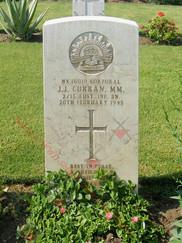 EGYPT Heliopolis War Cemetery 2/13th Infantry Battalion NX16019 Cpl John Joseph CURRAN MM