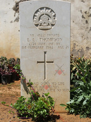 LEBANON Tripoli (Victoria) Naval Cemetery 2/24th Infantry Battalion VX45221 Pvt Lyle Linton THOMPSON