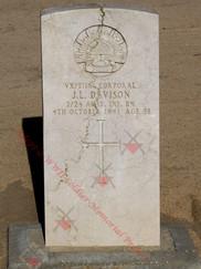 EGYPT Kantara War Cemetery 2/24th Infantry Battalion VX31161 Cpl John Leonard DAVISON