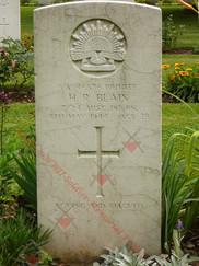 ITALY Milan War Cemetery 2/24th Infantry Battalion VX46586 Pvt Harold Ryrie BLAIN