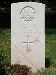 ITALY Udine War Cemetery 2/24th Infantry Battalion VX33414  Sgt Eugene GERAGHTY