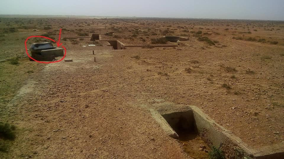 R32 Entrenchments and water well on left