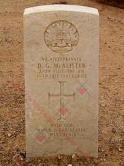 EGYPT Halfaya-Sollum War Cemetery 2/24th Infantry Battalion VX47127  Pvt Douglas Gilbert McALISTER