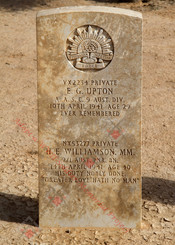 (shared grave) 2/1st Pioneer Battalion NX53277  Pvt Harold Edwin WILLIAMSON  MM