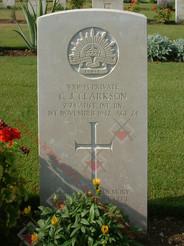 EGYPT Heliopolis War Cemetery 2/24th Infantry Battalion VX1943 Pvt Claude John CLARKSON