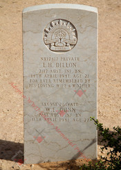2/17 Infantry Battalion NX17417  Pvt Lionel Hastings DILLON (shared grave)