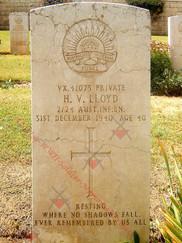 ISRAEL/PALESTINE Gaza War Cemetery 2/24th Infantry Battalion VX41073 Pvt Herbert Vivian LLOYD