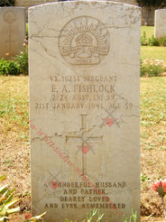 ISRAEL/PALESTINE Gaza War Cemetery 2/24th Infantry Battalion VX35238 Sgt Edward Ambrose FISHLOCK