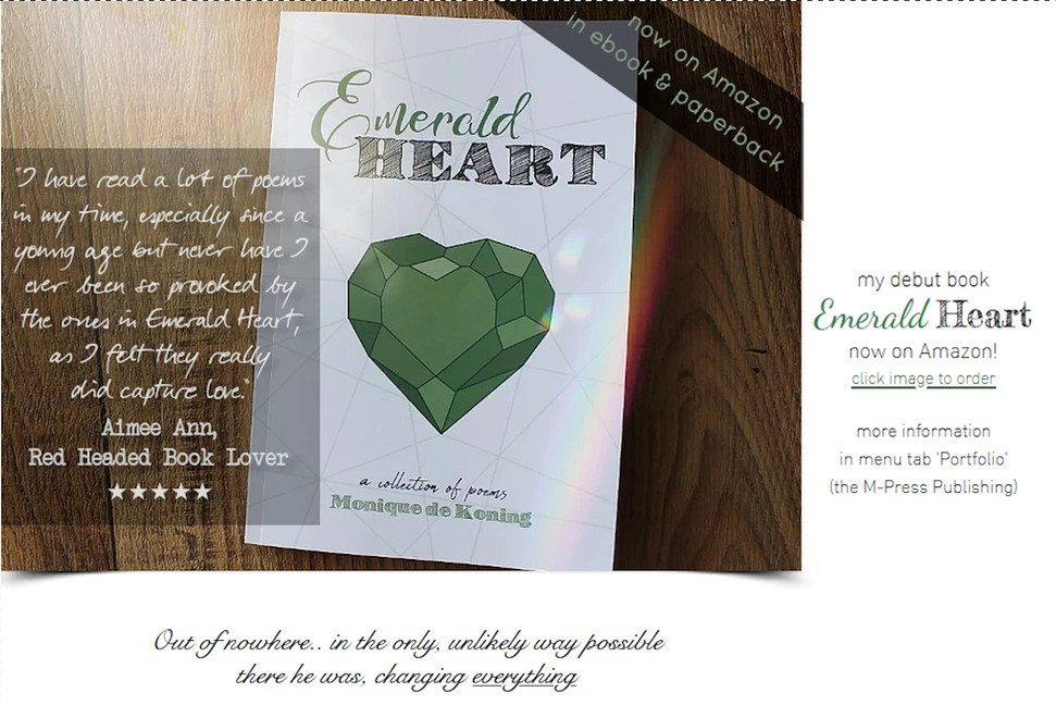 Emerald Heart, a collection of poems