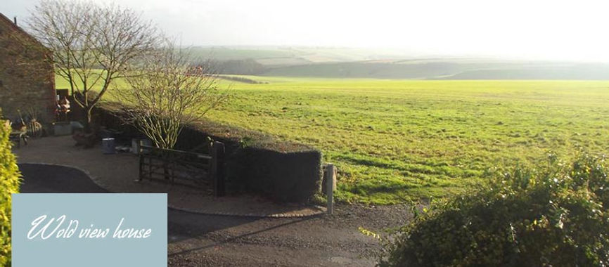 The view from Wold View House, Tealby