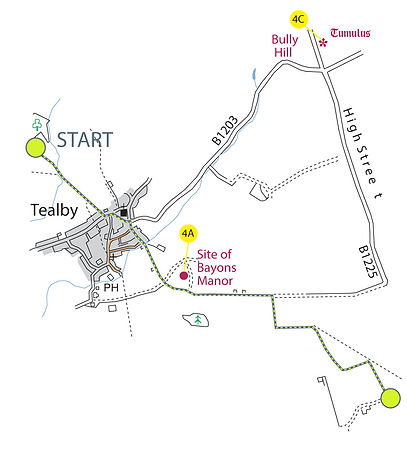Map of The Viking Way, Section 3: Tealby to Donington-on-Bain part-1