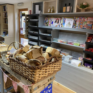 New shelving installed at Tealby Village Shop