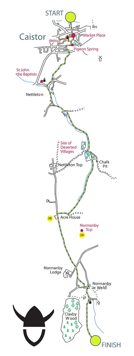 Map of The Viking Way, Section 3: Caistor to Tealby part-1