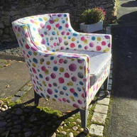No.1 Kingsway, Tealby - spotted chair