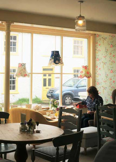The Vintage Tearooms, Tealby - customer