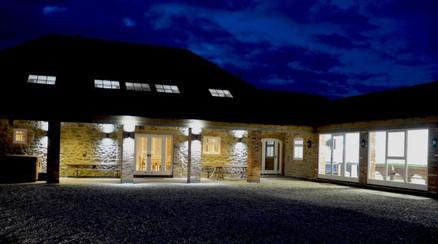 Ash Farm Barns - at night