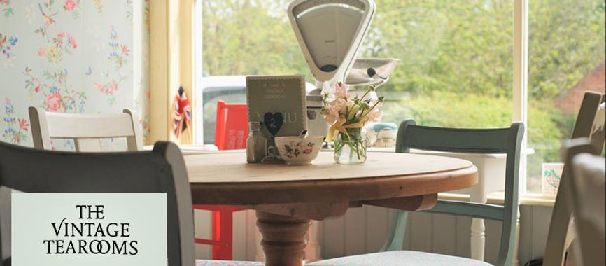 A table in the Vintage Tearooms, Tealby