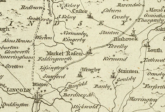 Old map showing Tealby
