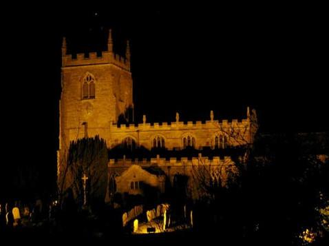 tealby church at night