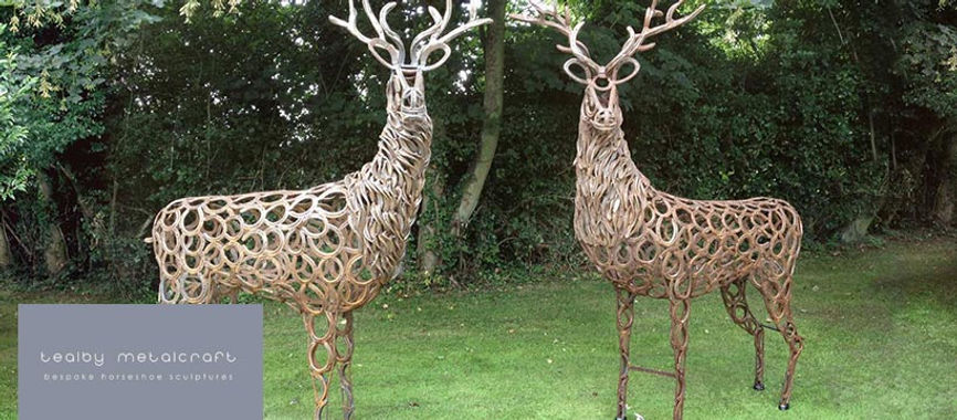 Tow deer created by Tealby Metalcraft in Tealby.