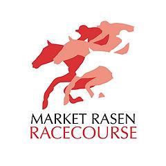 Horses jumping a fence at Market Rasen Racecourse near Tealby
