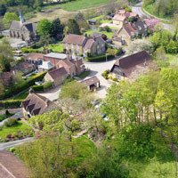Bird's eye view of Tealby