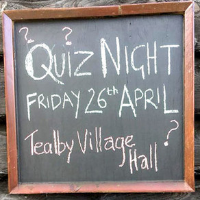 Friday, 26th April - Tealby Quiz Night
