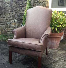 No.1 Kingsway, Tealby - leather chair