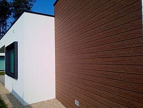 Revestimientos fachadas imitacion madera deckplanet - Imitacion madera para fachadas ...