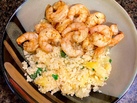 Jerk Shrimp with Pineapple Cauli Rice