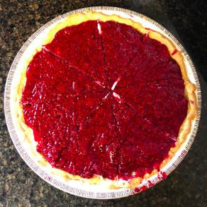 Skinny Raspberry Cream Pie