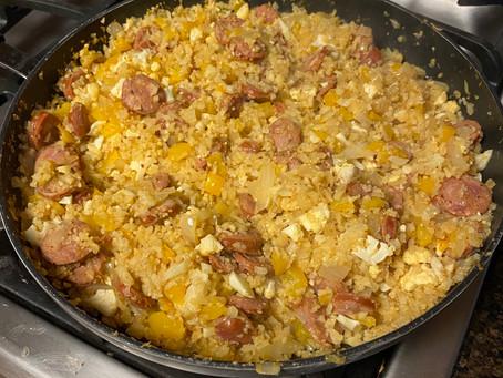 Cajun Sausage and Cauli Rice