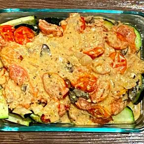 Cheesy Tomato Zucchini