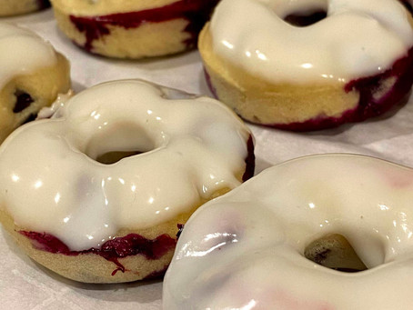 Blueberry Lemon Mini Donuts