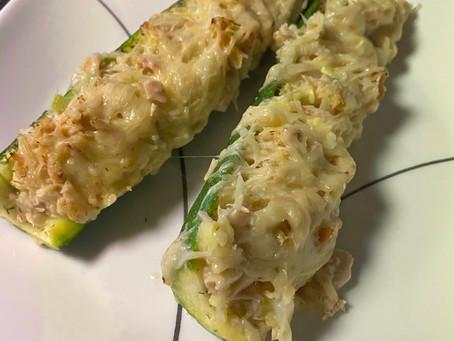 Zucchini Boat Tuna Melts