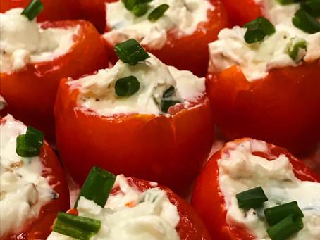 Cherry Tomato Cream Cheese Poppers