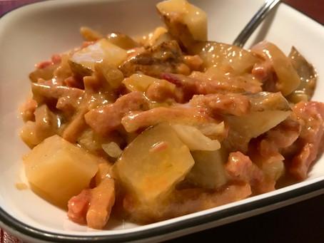 Ham and Potatoes Au Gratin
