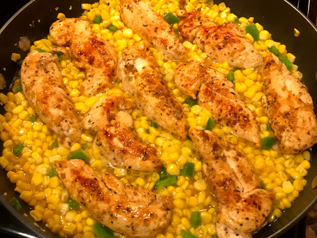 Cheesy Jalapeño Chicken and Corn