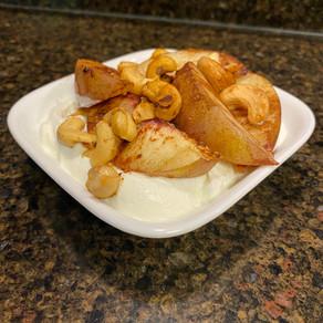 Maple Peach Yogurt Bowl