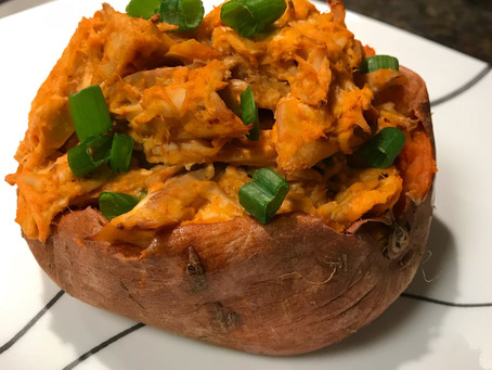 Buffa-Loaded Sweet Potatoes