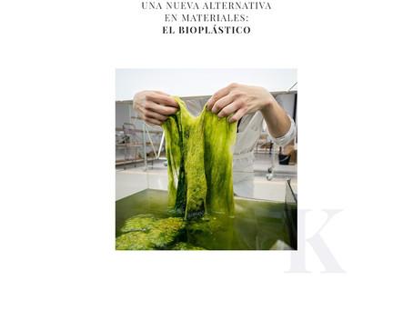 Una nueva alternativa en materiales: El Bioplástico