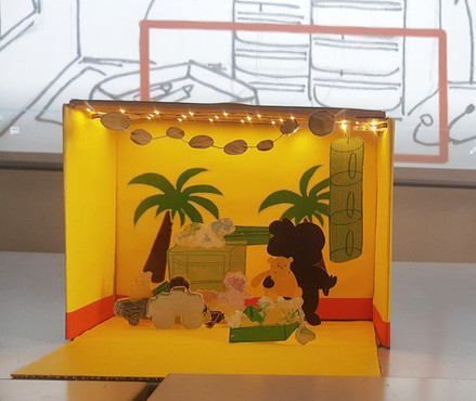 Présentation du diorama - Lisa Bridet-Remphan