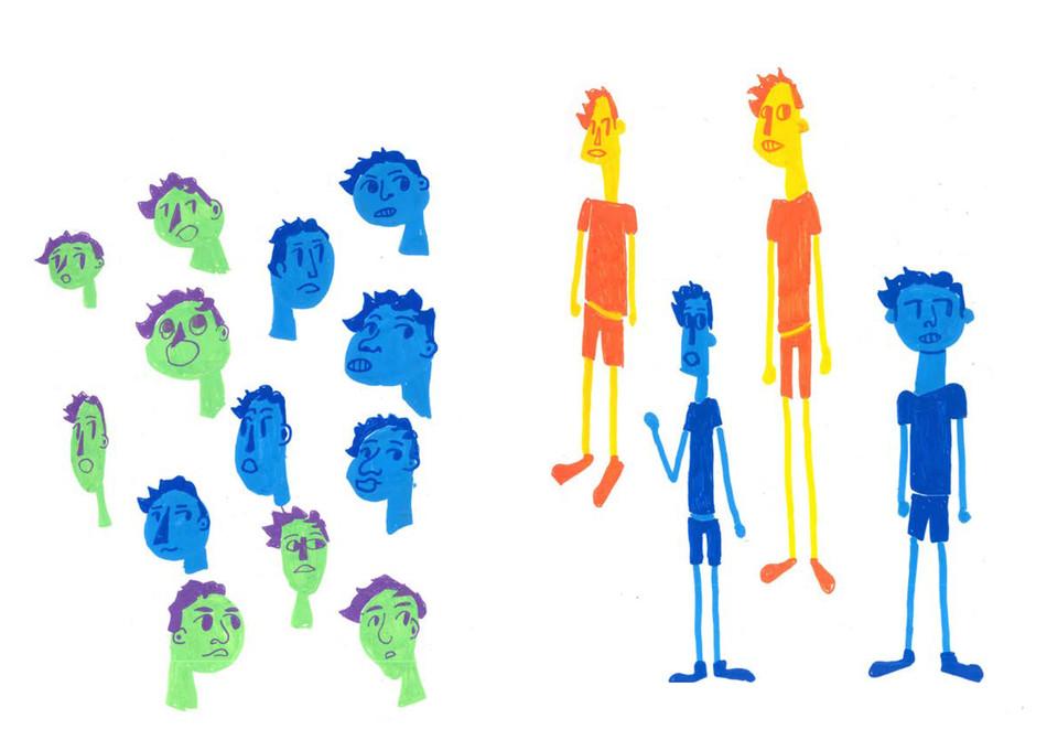 Recherches personnages - Ewan Loret