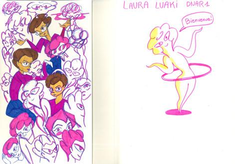 Recherches personnage - Laura Luaki