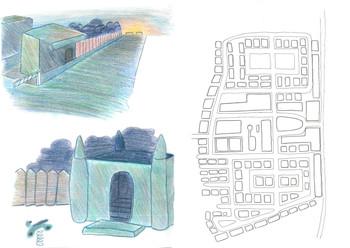 Crayon de couleur et plan - Ewan Loret
