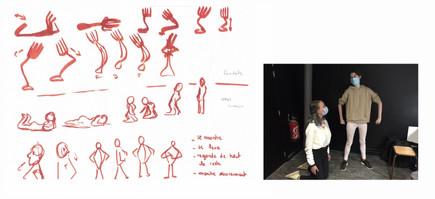 Recherches expressions corporelles - Lisa Giguet