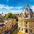 Point de vue latérale d'un bâtiment de l'Université de Oxford