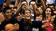 Students cheering at UCI graduation